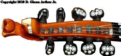 Hardanger Fiddle pegbox
