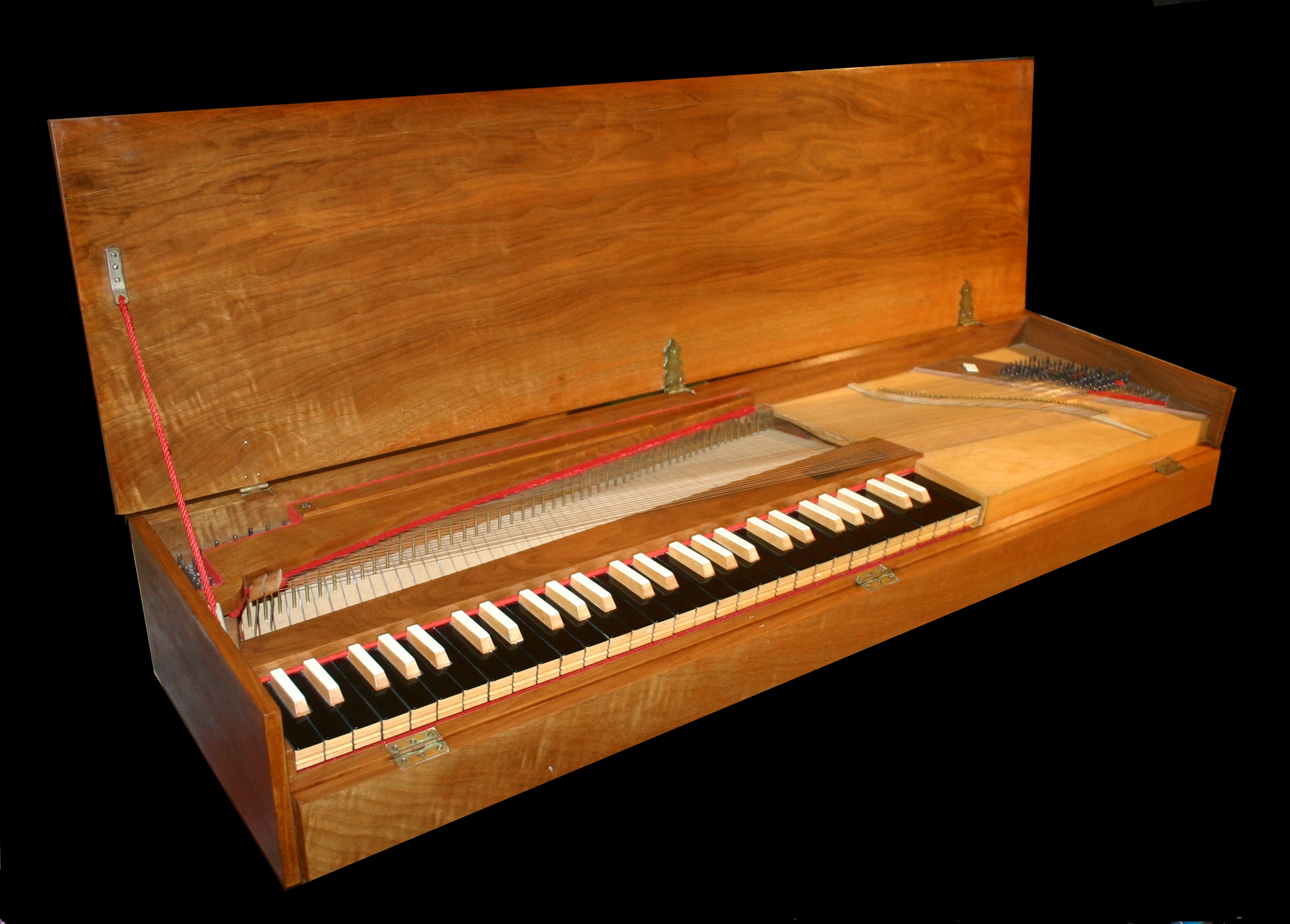a description of a piano stringed keyboard musical instrument derived from the harpsichord and the c A piano is a musical instruments which uses felt hammers to percussion and a stringed instrument of the piano was a harpsichord which uses.
