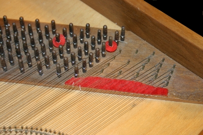 Clavichord tuning pins and hitch pins