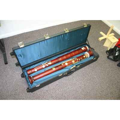 Kung Contrabass Recorder in case
