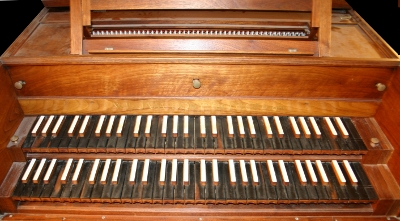 French Double Manual Harpsichord by William Down