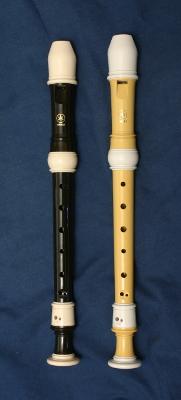 Yamaha 402B and 302B soprano recorders